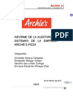 Auditoria Archies Pizza