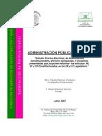 Antecedentes Constitucionales de La Admon Publica de Mexico