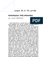 Esprit 1 - 19321001 -  Bridoux, andré - Chronique de la vie privée - remarques préliminaires