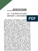 Esprit 1 - 19321001 -  Confrontations - Sylveyre-Nicolas Berdaïeff - Le Communisme devant l'Occident