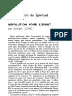 Esprit 1 - 19321001 -  Izard, Georges - Révolution pour l'esprit