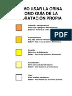 Hydration Chart Spanish
