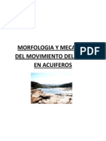 Morfologia y Mecanica Del Movimiento de Agua en Acuiferos