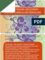 Kepentingan Geografi Dalam Kurikulum Sekolah