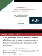 Variables Binarias y Ficticias