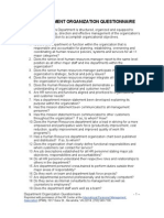 HR Department Organization Questionnaire