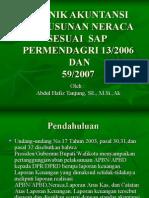 Teknik Akuntansi Penyusunan Neraca Sesuai SAP Dan Permendagri ( a Hafiz Tanjung)