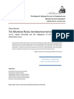 Murrow FCC Rural Information Initiative Final Report