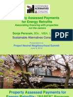 Property Assessed Payments for Energy Retrofits - Sonja Persram, Sustainable Alternatives Consulting