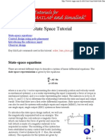 State Space Tutorial