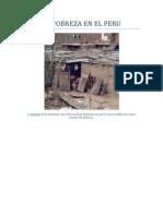 La Pobreza en El Peru