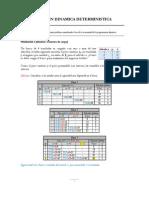 Programación Dinámica Determinista (Casos Especiales)