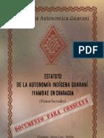 Estatuto de la Autonomía Indígena Guaraní Iyambae en Charagua