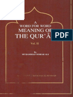 A Word for Word Meaning of the Qur'an Volume 2 Ali