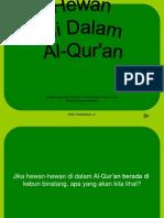 Mengenal Binatang Dalam Al-Quran