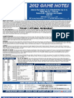 Bluefield Blue Jays Game Notes 6-22