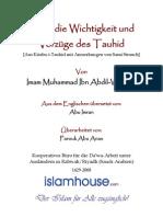 Über die Wichtigkeit und Vorzüge des Tauhid (Monotheismus)