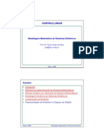 Modelagem Matematica de Sistemas Dinamicos