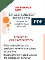 Quantitative Research Methodologies