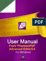 FoxitPhantomPDFAdvancedEditor50 Manual