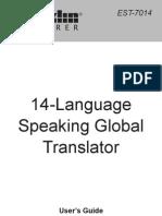 14 Language Speaking Global Translator Guide