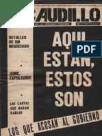 Revista El Caudillo. Buenos Aires, Nº 72, noviembre, 1975, año III