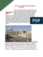 SÍMBOLOS QUE LOS CRISTIANOS DEBEN EVITAR
