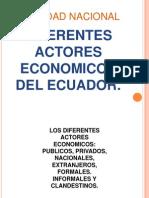 Diferentes Actores Economicos Del Ecuador