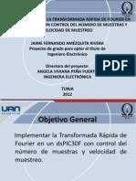 Implementación de la FFT en un dsPIC30F con control del número de muestras y velocidad de muestreo