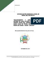 Estudio de Perfil mejoramiento y ampliación de agua potable