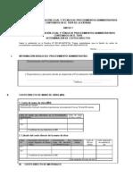 FORMATO DE SUSTENTACIÓN LEGAL Y TÉCNICA DE PROCEDIMIENTOS ADMINISTRATIVOS