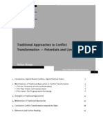 Traditional Approaches to Conflict Transformation Potential (1)