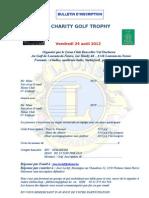 Charity Golf Trophy Inscription 2012