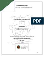 Segundo Informe Economia Entrega Final Economia gropecuaria trabajo universidad nacional sede medellin