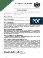 Clonmun - Rules of Procedure