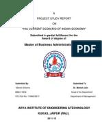 The Current Scenario of Indian Economy Acknowladgement