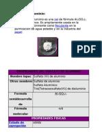 Sulfato de Aluminio Arreglo