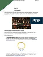 Fibre Optics Patch Cable