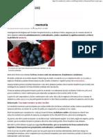 Frutos Rojos Para La Memoria - Salud y Bienestar
