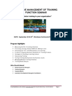 Effective Management of Training _function
