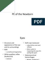 PE of the Newborn