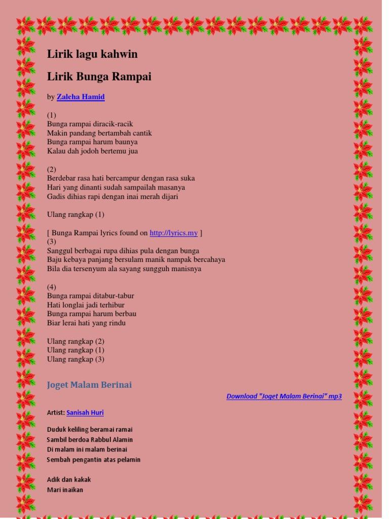 Lirik Lagu Kawen