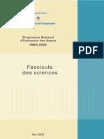 Programme National d'évaluation des aquis 2008   - Fascicule des sciences -