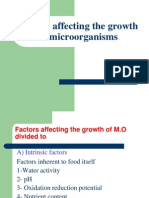 5.Factors Affecting the Growth of Microorganisms