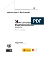 CEPAL - Sobre La Evolucion Del Gasto Publico Social en a Latina y Sus Papel Para La Estabilizacion Economica