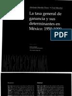 Mariña Flores, A. & Moseley, F. - La tasa general de ganancia y sus determinantes en Mexico 1950-1999