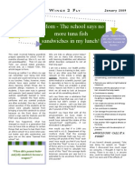 Newsletter January 2009 - When is a Food Not a Food