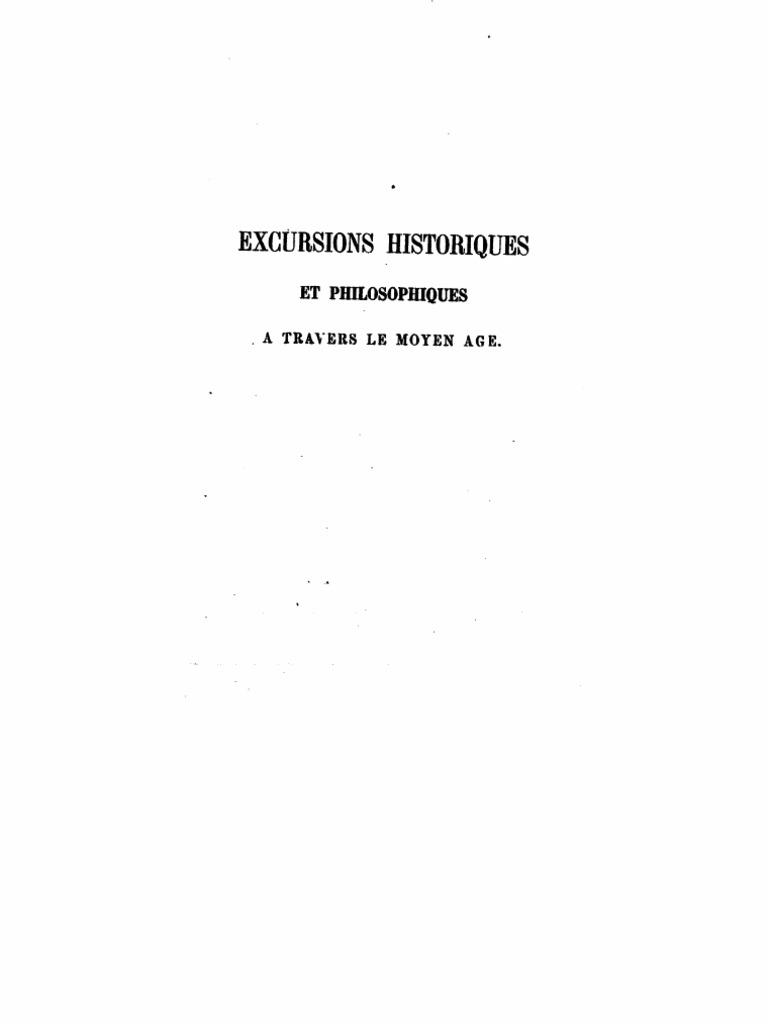 bb400453b33694 Charles Jourdain - Excursions historiques et philosophiques à travers le  moyen