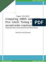 Comparing AMOS and SAS Proc CALIS