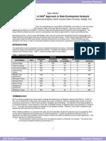 The Final Frontier a SAS Approach to Data Envelopment Analysis